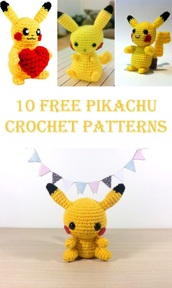 10 Free Pikachu Crochet Patterns