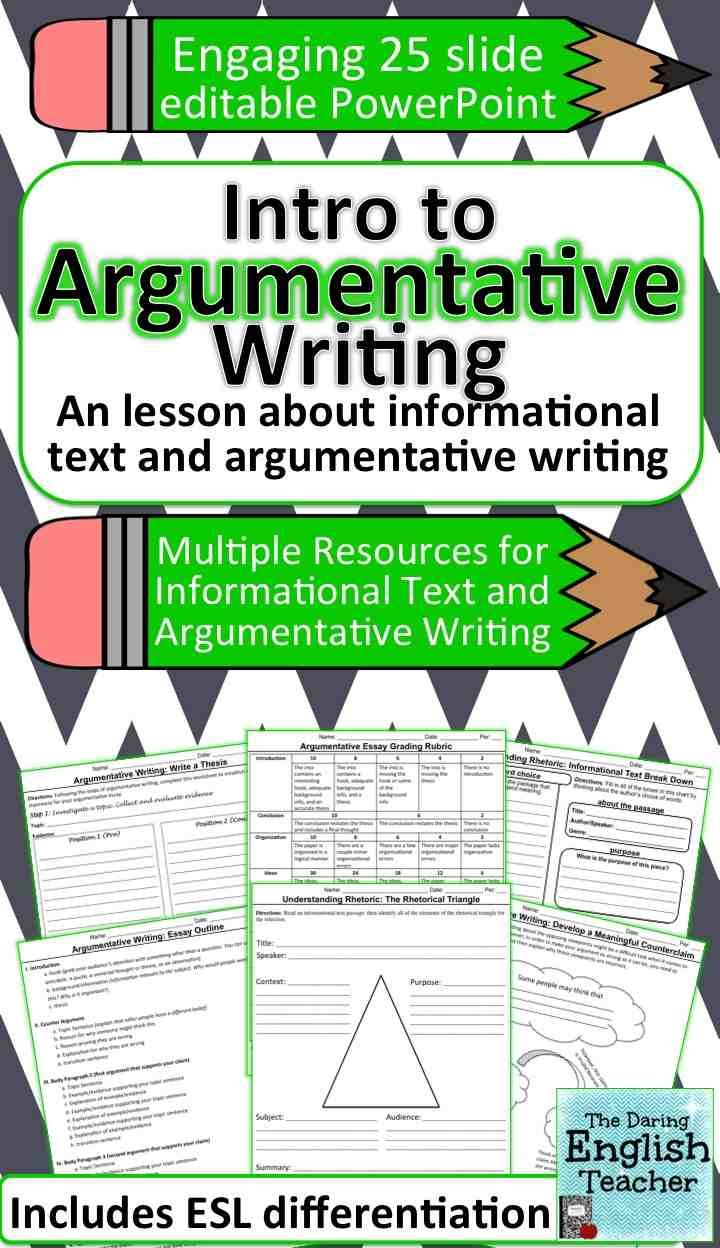 This mini-unit teaches middle and high school students about informational texts in order to make them better argumentative essay writers.