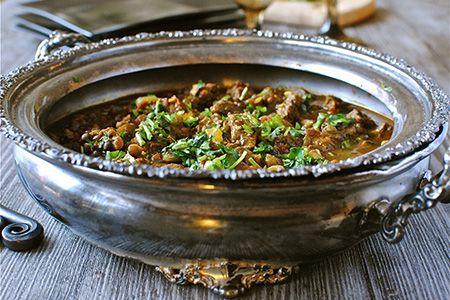Spezzatino di Agnello al cumino e lenticchie  #ricetta #ricette #cucina #indiana #cucinare #cena #agnello #cumino #lenticchie