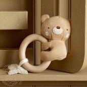Natures Purest Teddy Teething Rattle - Teddy & Ele  Buy yours here: http://www.naturalbabyshower.co.uk/catalogsearch/result/?q=Teething
