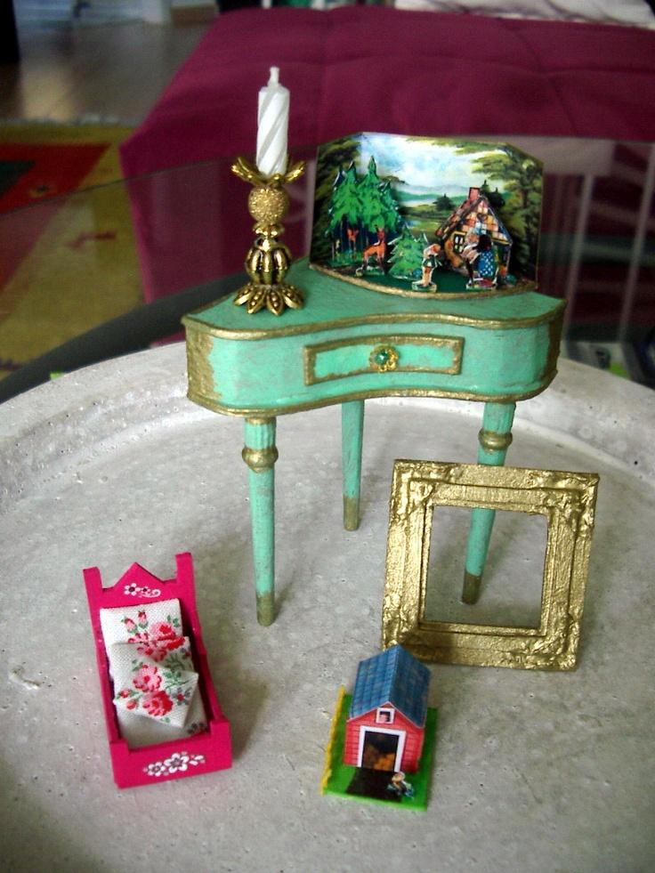 Miniaturen 1:12... Weihnachts-Swaps... von mir gemacht    http://puppenstubennostalgie.blogspot.de/Miniaturen 112