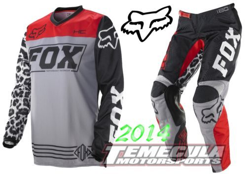 2014 FOX RACING HC 180 Jersey Pant MX Motocross Gear Combo BLACK/RED WOMENS