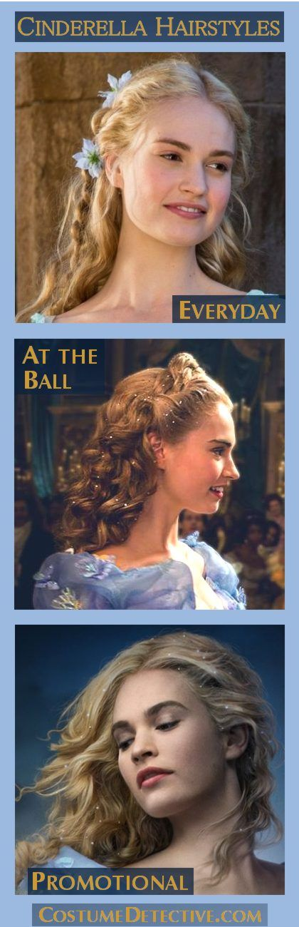 Find out how to do live Cinderella's Hair. Discover Cinderella Live Hair Styles with ideas for Everyday, At the Ball and the stunning Sparkly Promotional Look at the Costume Detective.