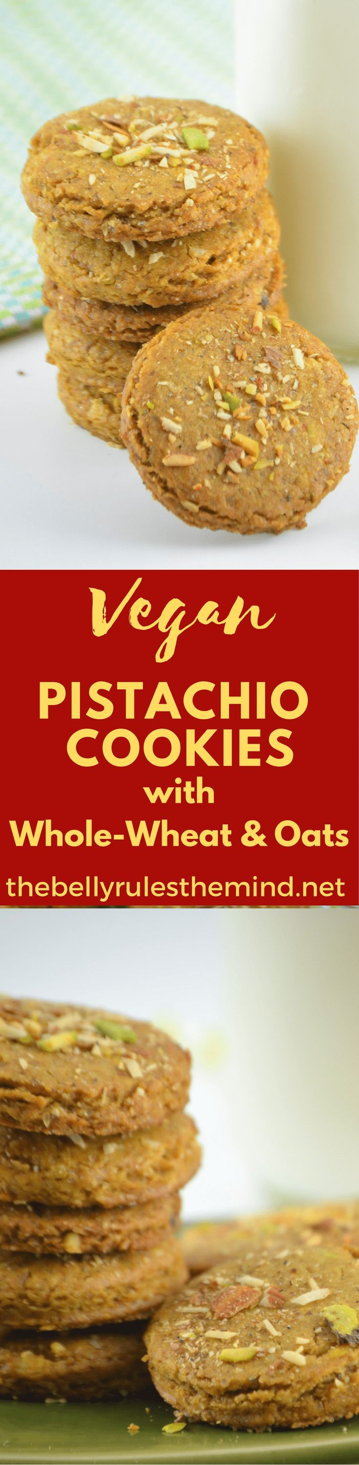 These Cookies are buttery and crumbly made with whole wheat & Oats with lots of Pistachios. Super easy Pistachio cookies recipe that anyone can make  @bellyrulesdmind #cookies  #pistachio #vegan #oats #baking