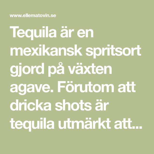 Tequila är en mexikansk spritsort gjord på växten agave. Förutom att dricka shots är tequila utmärkt att blanda drinkar med. Här är 5 enkla recept!