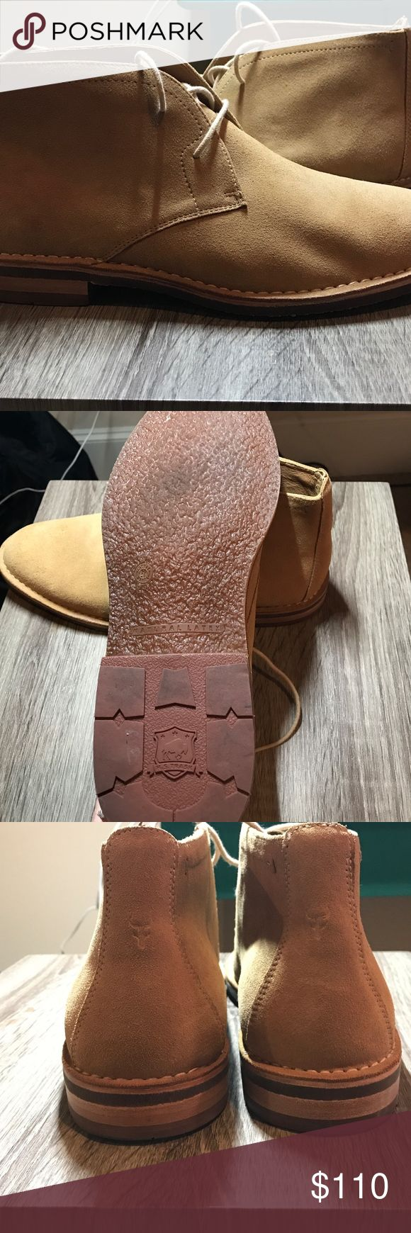 Men's Boots Men's size 12 boots - Tan Suede Tresk Shoes Chukka Boots