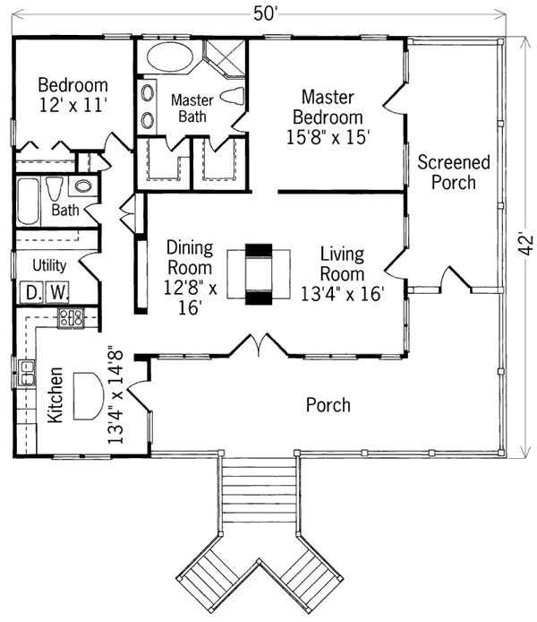 Surprising 2br House Plans Images - Image design house plan - novelas.us