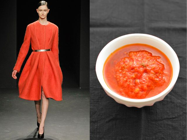 CALVIN KLEIN COLLECTION / THICK TOMATO AND BREAD SOUP