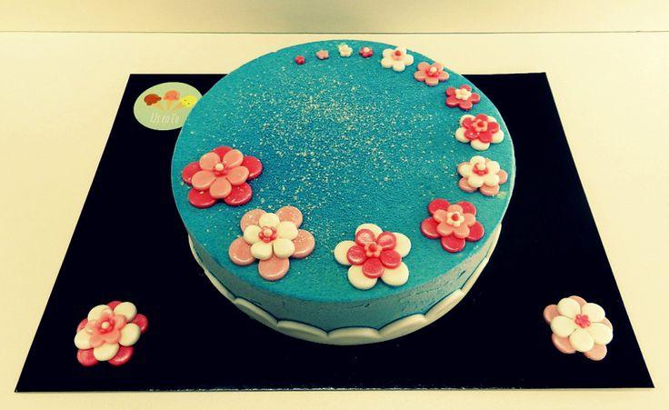 IJstaart met suikerpasta: bloemen, elegant, vrouw, meisje