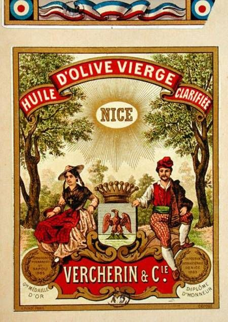 Label for Vercherin Extra Virgin Olive O - French School and all ...www.art-prints-on-demand.com