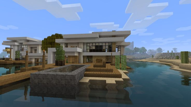 Modern House Tutorial 2 - Beach Town Project Minecraft Project