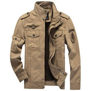 Men Military Army jackets plus size 6XL Brand 2017 Hot cost outerwear embroidery mens jacket