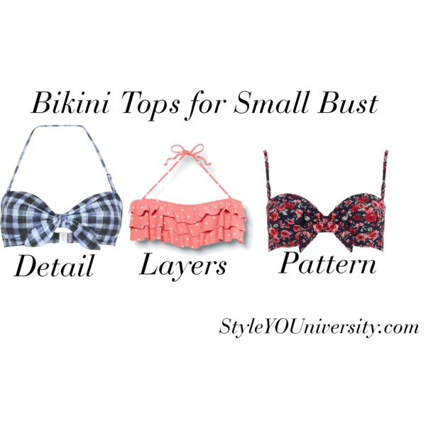 """Bikini Tops for Small Bust"" by styleyouniversity on ..."