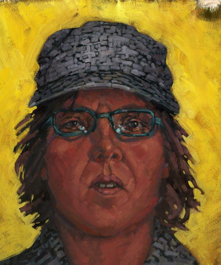 """""""Jing"""" Artista: V. Kim Martínez, acrílico sobre lienzo, 21.5x28 cm, 2015 + PA"""