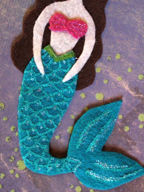 Ornamento de la sirena o la etiqueta del regalo
