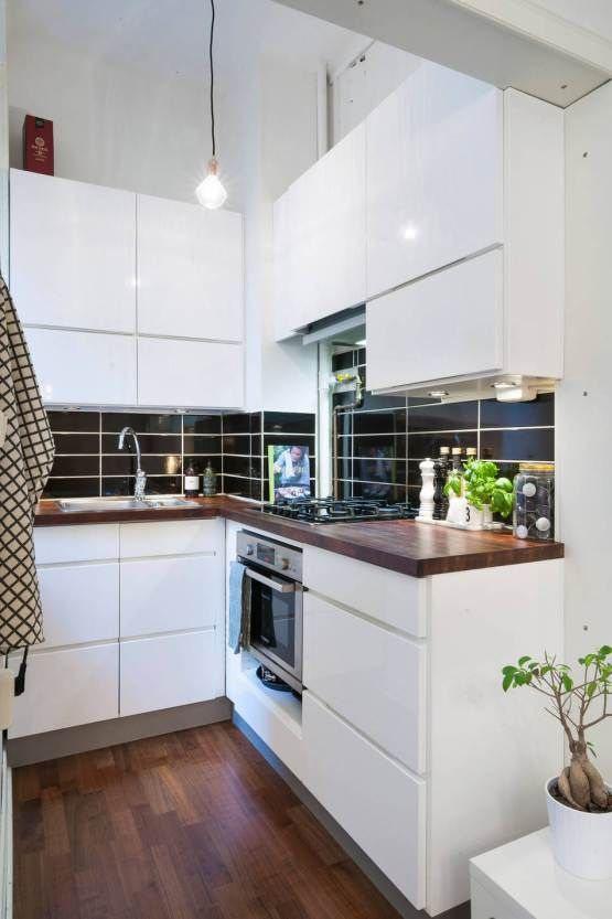 Las 25 mejores ideas sobre peque as cocinas blancas en for Cocinas blancas pequenas