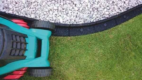 L1m Flexi-Border Garden Edging in Grey - H8cm - by EcoBlok