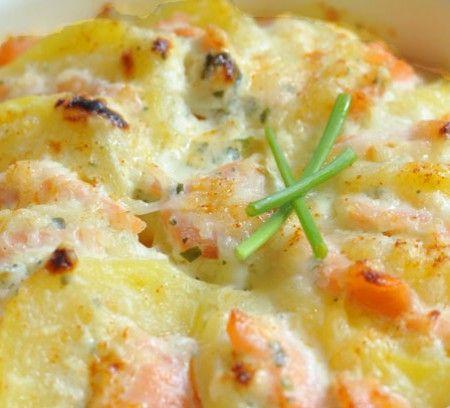 Un gratin de pommes de terre au saumon fumé ? Rien de meilleur ! Voici notre recette facile.