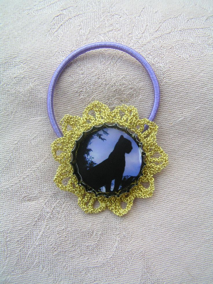 Rubber ring in gold and purple: The Black Panther