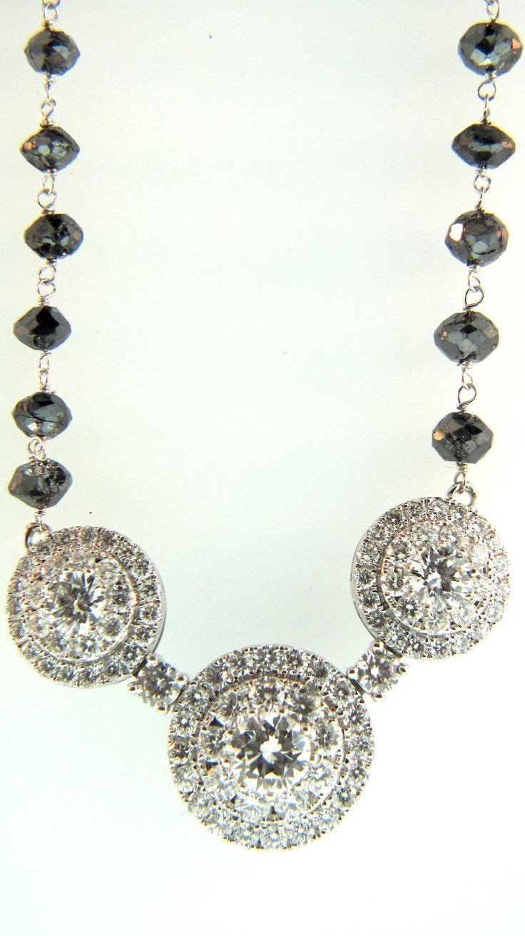 Diamond Mangalsutra with Black Diamond chain #mangalsutra #diamonds #jewelry