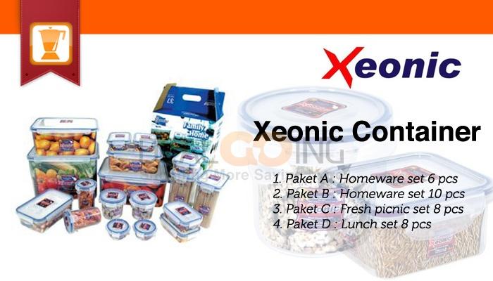 Simpan cemilan atau bekal makanan anda dengan Xeonic Container, Xeonic melindungi makanan anda agar tetap renyah dan tidak melempem.