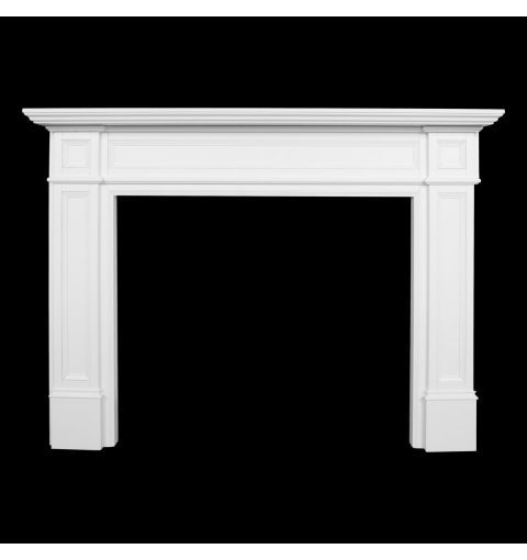 Parliament Large Timber Mantle (Kit Form), White