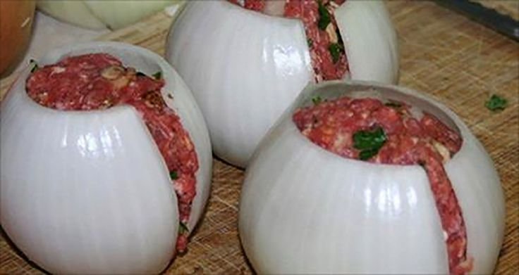 Bbq bacon meatloaf in an onion shell