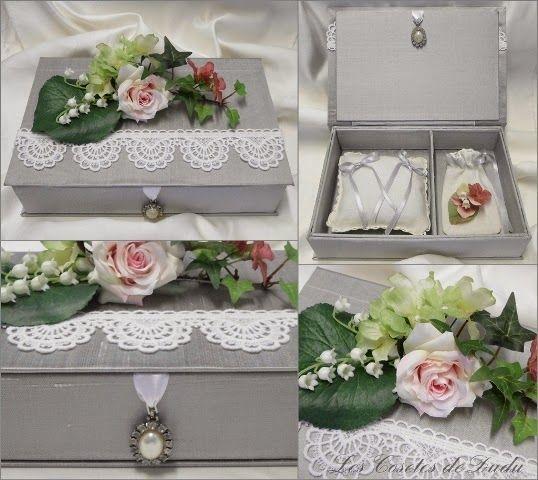 Crsitina me pidió una caja para poner los anillos y las arras el día de su boda. La quería con un toque vintage y...