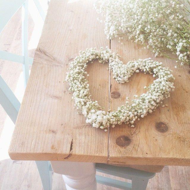 Gipskruid hart of kransje maken