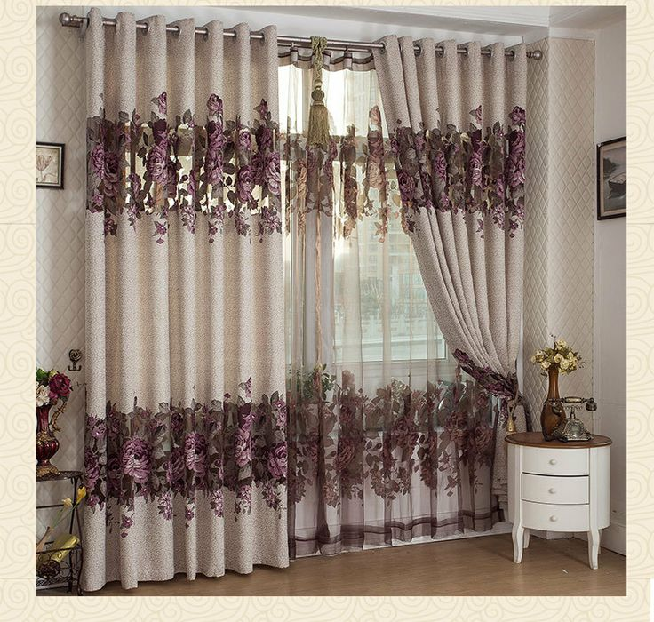 Home decoration curtains for windows Burnt tulle
