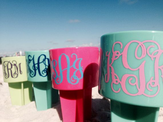 Beach Spikers Cusomized and Monogrammed Cup by TheGreenGiftCompany