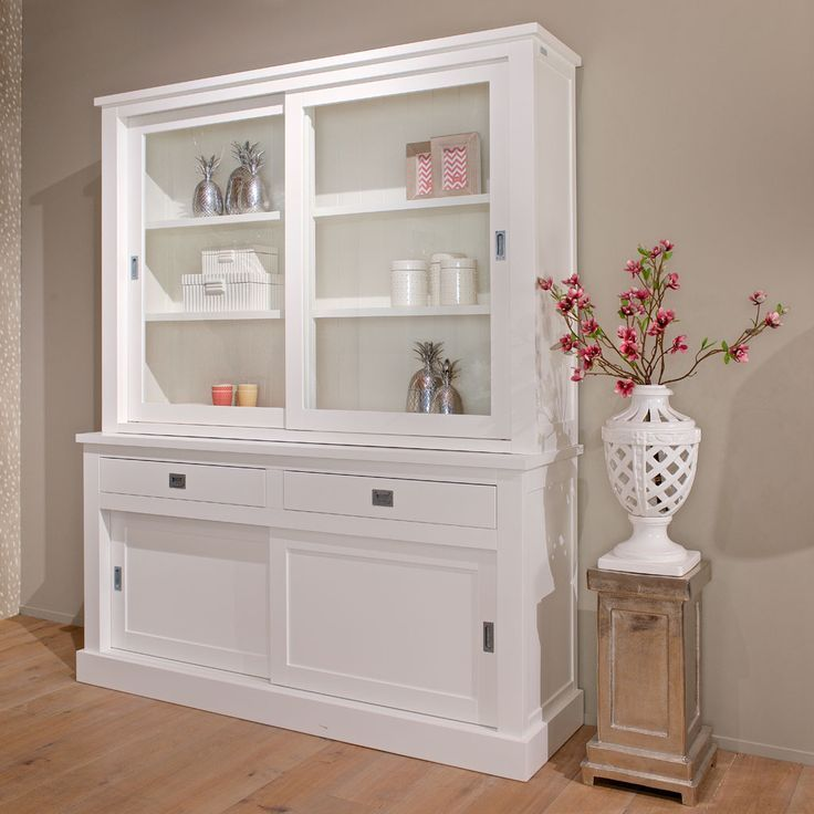 Showcase White Country House Buffet Cabinet White Country Style
