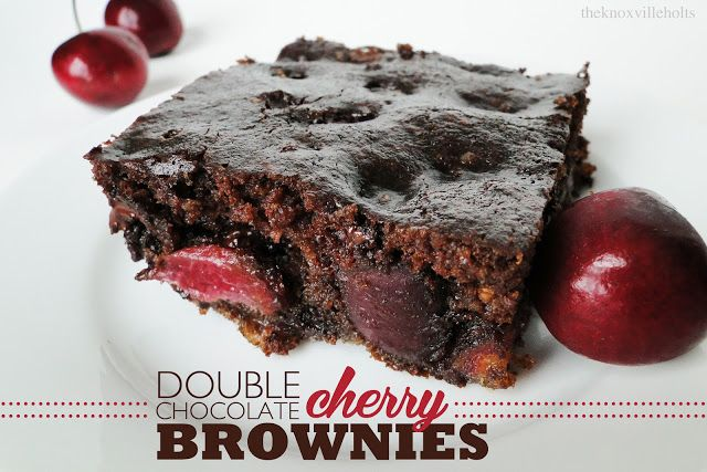 Double-Chocolate Cherry Quinoa Brownies Recipes — Dishmaps