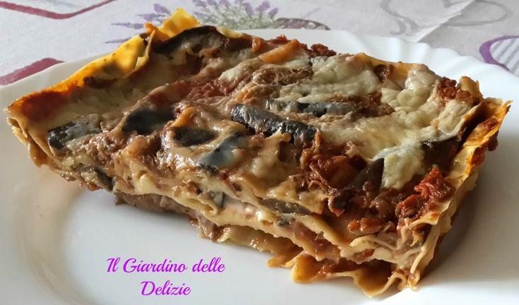 Lasagna con sugo di melanzana