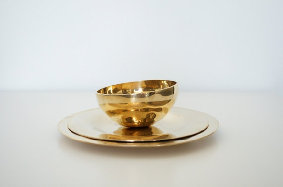 Brass plates and bowl .. So delightful @Anathalia
