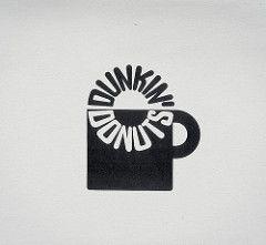 Retro Corporate Logo Goodness_00082 (jordan_lloyd) Tags: blackandwhite cup coffee vintage logo 60s icons retro 80s donuts mug 70s 1970s 1980s logos branding dunkin iconography trademarks logotypes