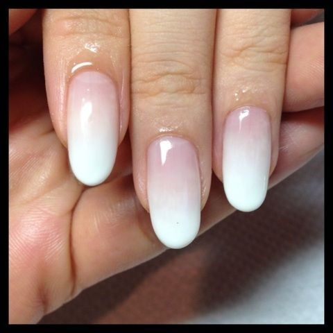 white ombre #nail #nails #nailart