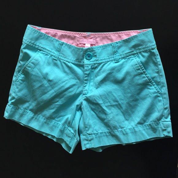Lilly Pulitzer aqua shorts Lilly Pulitzer aqua shorts. In great condition. Lilly Pulitzer Shorts