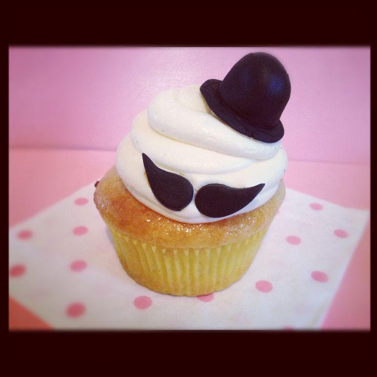 Movember cupcake