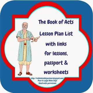 Bible Fun For Kids - she has lots of great ideas and worksheets