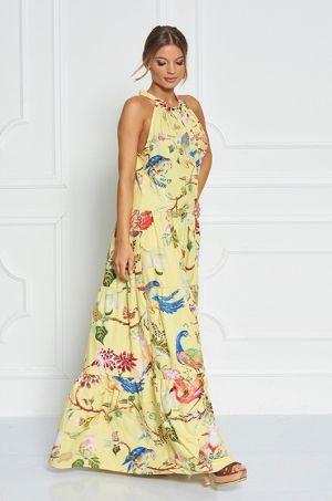 Jedinečné maxi šaty z limitovanej Zsolnay kolekcie. Šaty sú univerzálnej veľkosti, voľného strihu - padnú každej ženskej postave :-). Zadná časť šiat má hlboký