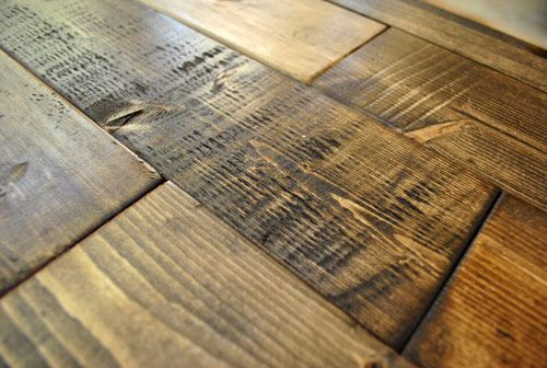 """Great tutorial on how to make new wood look old....gonna try this on my """"old"""" barn door headboard!"""