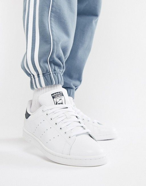 31dc8ffa53 adidas Originals Stan Smith leather sneakers in white and navy in ...
