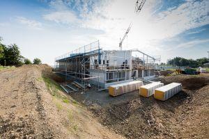 Neubau Gewerbehalle und Verwaltung, schlüsselfertiger Neubau, Gewerbebau