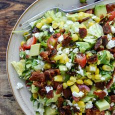 BLT Chopped Salad with Corn, Feta + Avocado