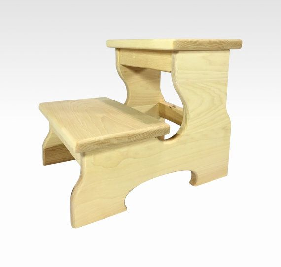 Classic Wood Step Stool Two Step Bed Kids Children in Natural Hickory by Candlewood Furniture  sc 1 st  Pinterest & 15 best Toddler Step Stool images on Pinterest | Step stools ... islam-shia.org