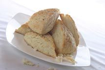 Frozen Butter Biscuits - the frozen butter explodes in the dough while they are baking! Delicious flaky biscuits!
