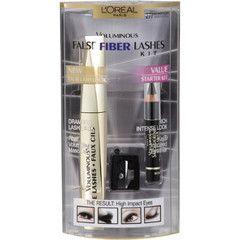 L'Oreal Voluminous False Fiber Lashes Kit - Black