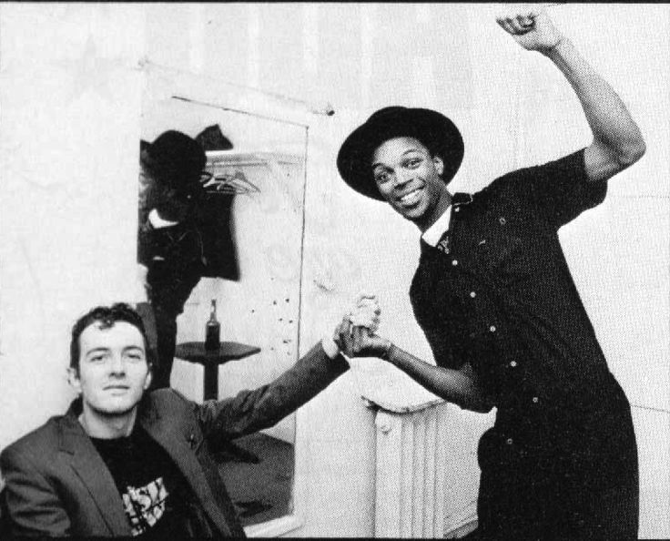 Joe Strummer and Ranking Roger