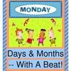 Get ACTIVE in Circle Time when you learn the Days of the Week and Months of the Year with rhythm, rhyme, and 'MOVES'!    Have fun with a sequence o...